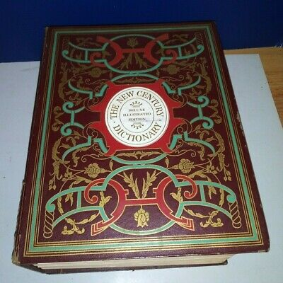Vintage 1957 The New Century Dictionary Deluxe Illustrated Edition Hardcover