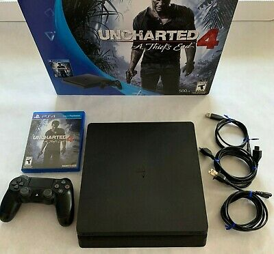 Sony PlayStation 4 PS4 Slim - Uncharted 4 Bundle 500GB 1 Wireless Controller