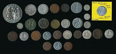 29 Old Italy Coins & Medals > Nice Collectibles > See Images > No Reserve