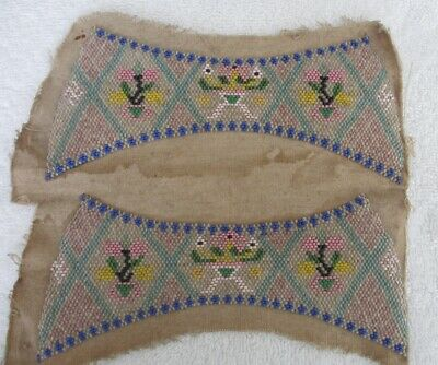 Native American? Bead Work Very Old Unknown Tribe Each bead hand sewn