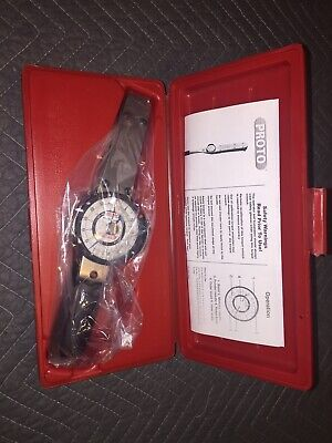 "PROTO J6168F 1/4"" Drive Dial Torque Wrench 6-30 in-lbs"