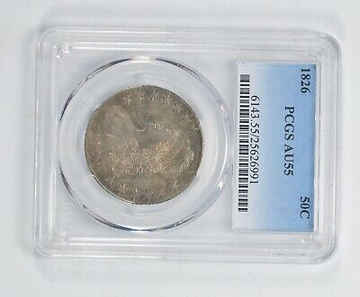 AU55 1826 Capped Bust Half Dollar - PCGS Graded *5277
