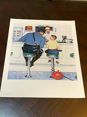 "Norman Rockwell Print THE RUNAWAY 20"" x 16"""