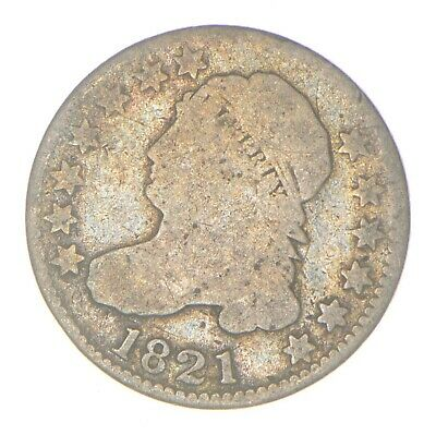 EARLY - 1821 - Capped Bust Dime - Eagle Reverse - TOUGH - US Type Coin *332
