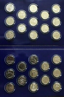 FULL SET Alphabet Ten Pence 10p 2018 UNCIRCULATED A to Z Coins Free P&P