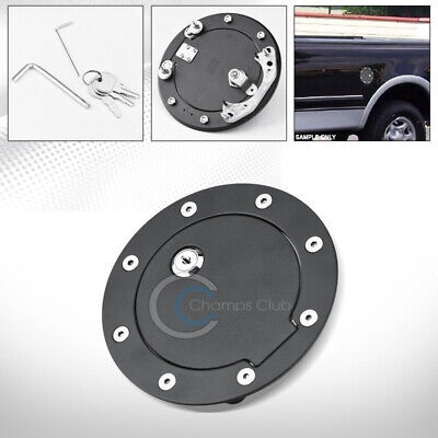 For 97-03 F150 99-10 F250//350 Chrome Plated Billet Fuel Gas Door With Lock and Keys