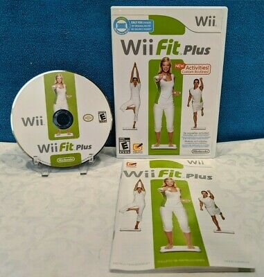 Wii Fit Plus (Nintendo Wii, 2009) with Manual - Tested & Working