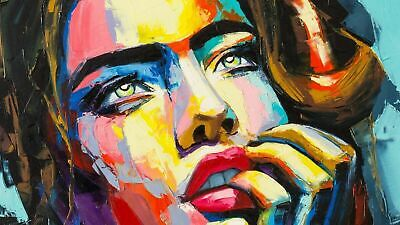 Women Face Painting  CANVAS WALL ART PICTURE PRINT VARIOUS SIZES