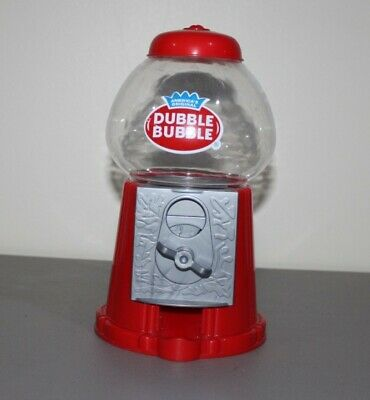Classic Red Dubble Bubble Gum Machine Bank 50 Gumballs Coin Bank Sturdy Plastic