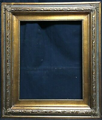 """Antique Reproduction Gold Gilt Vintage Picture Frame Opening 12/""""x16/"""""""