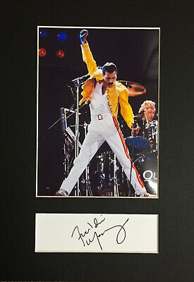 Freddie Mercury Queen Mounted Photograph & Autograph/Signature Museum Grade⭐⭐⭐⭐⭐