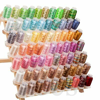 Beautiful Set of  70 Spools Variegated Embroidery Machine Thread