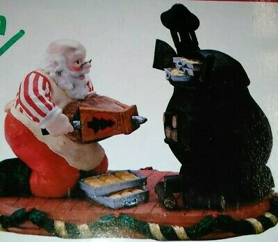 Firing Up for Christmas SANTA & POTBELLY STOVE Incense Burner House of Lloyds