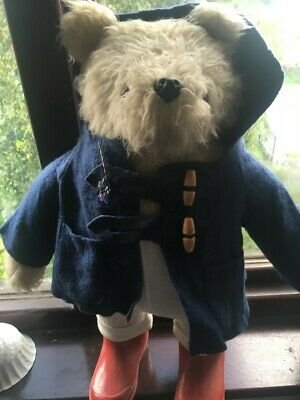 Vintage Paddington Bear 20 in high Paddington with Boots & spare Gap cape