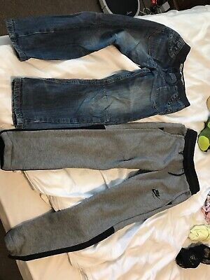 Nike Airmax Boys Jogging Bottoms Small 8-10 Yrs. Plus Jeans 7-8yrs.