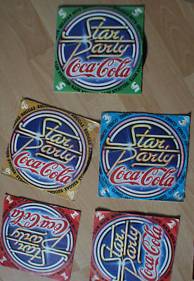5 x 45 tours coca-cola - collection star party
