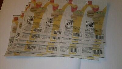 McDonalds Food Vouchers x 24 valid until 29/03/2020