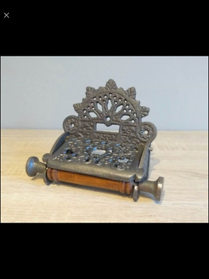 Victorian Style Toilet Roll Holder Cast Iron Vintage Style