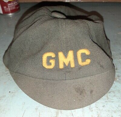 Antique Fabric GMC Service Attendent Hat Cap Very OLD & RARE Felt Letters 7 1/8