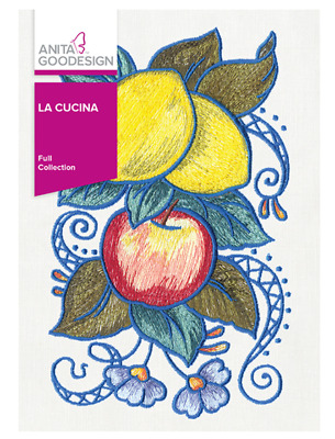 Anita Goodesign Machine Embroidery Patterns - La Cucina - Full Collection