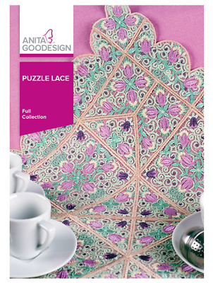 Anita Goodesign Machine Embroidery Pattern - Puzzle Lace