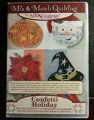 Anita Goodesign Embroidery Pattern -  Confetti Holiday