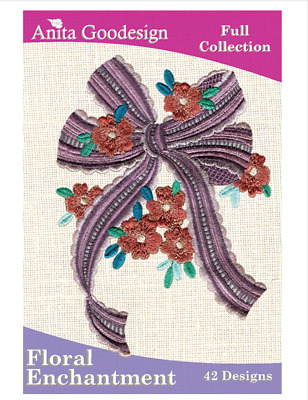 Anita Goodesign Machine Embroidery / Quilting Patterns - Floral Enchantment