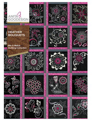 Anita Goodesign Machine Embroidery / Quilting Patterns - Heather Bouquets
