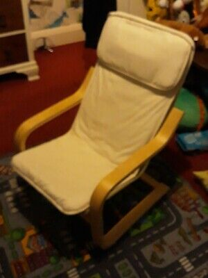 IKEA POANG CHAIR, birch veneer, natural, washable seat cover