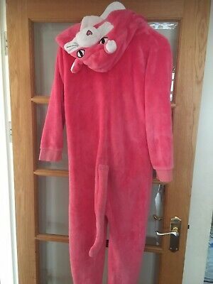 Pink Cat Bodysuit Onesie12 Kids Childrens Girls Next Age 12 Pyjamas