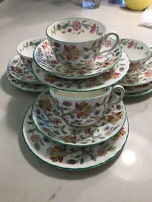 Minton HADDON HALL collection of Cups, Saucers and Side Plates