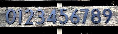 "4"" Tall Raw Steel House Numbers Modern Industrial Rustic Address Metal Iron"