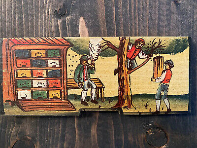 Slovenian Folk Art Paintings on Beehives PODPECAN Hand Painted Art Wooden Plaque