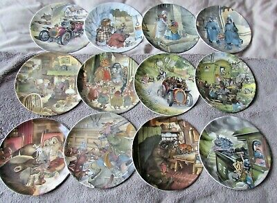 Wedgwood WIND IN THE WILLOWS Complete Set of 12 Plates ERIC KINCAID