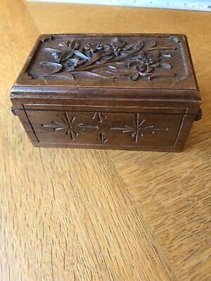 Carved Wooden Black Forest Unusual Tiered Box