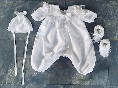 Christening Gown, Hat & Shoes 3-6months