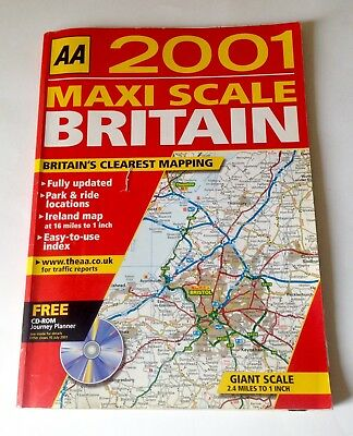 AA Maxi Scale Road Map for the UK - 2001 Edition