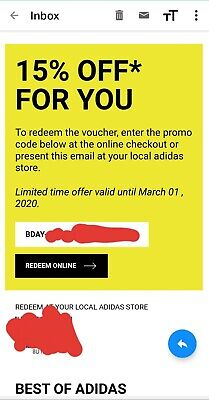 ADIDAS 15% OFF Coupon Discount Promo Code INSTANT Delivery!!!