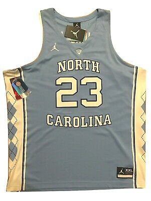 Michael Jordan North Carolina Blue Nike Stitched Mens Jersey 2XL #23 NWT