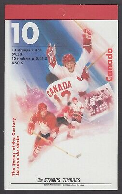 CANADA BOOKLET BK201b 10 x45c HOCKEY SERIES OF THE CENTURY, OPEN COVER WITH TI