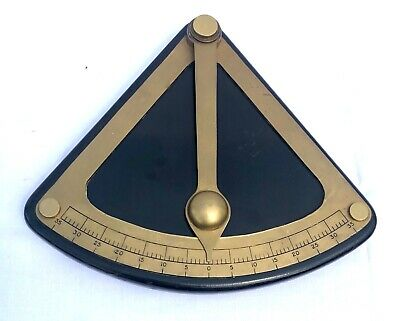 Rare Vintage Ships Brass Clinometer Inclinometer Maritime Marine Nautical Boat