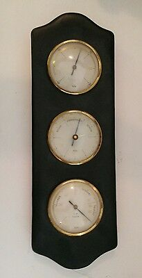 SlundO Weather Station Mid Century Modern  Black Vinyl Brass German Germany