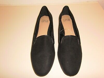 { BNWOT } F & F black suede shoes size 5 { eur 38 }