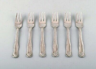 Georg Jensen Old Danish cutlery. Set of six pastry forks in sterling silver