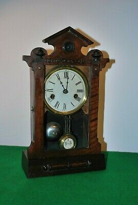 Antique Tutonia Uhrenfabrick Mantle Clock