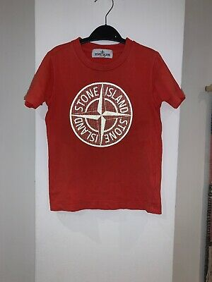 Authentic Stone Island Red Reflective Tshirt Age 4 Boys
