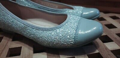 Girls sparkly party shoes size13 Blue. Worn once.