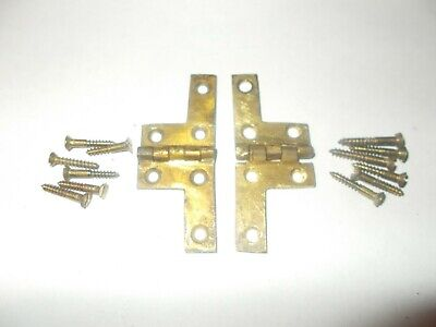 Reclaimed Antique Victorian Writing Slope Parts Brass Hinges & Screws