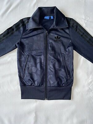 Girls Navy Camo Adidas Jacket Age 11-12 (woman's Size 4) Worn Once. No Returns.