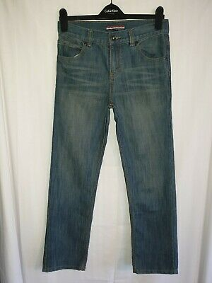 Boys TOMMY HILFIGER Blue Regular Fit Jeans Age 16 Years